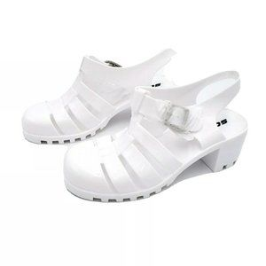 Soda Womens Block Heel Sandals White 6